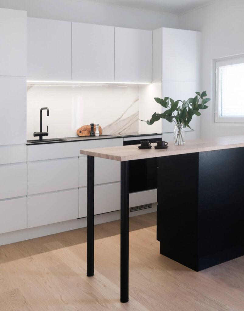 Keittiö, sisustussuunnittelu portfolio, sisustussuunnittelija Turku