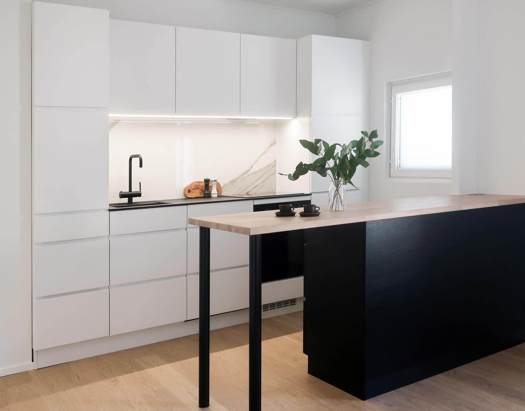 Kvik keittiö, sisustussuunnittelu portfolio, sisustussuunnittelija Turku